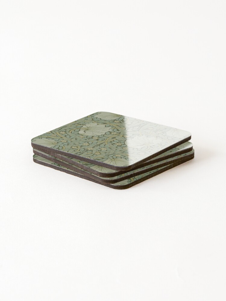 Alternate view of Pimpernel by William Morris, 1876 Coasters (Set of 4)