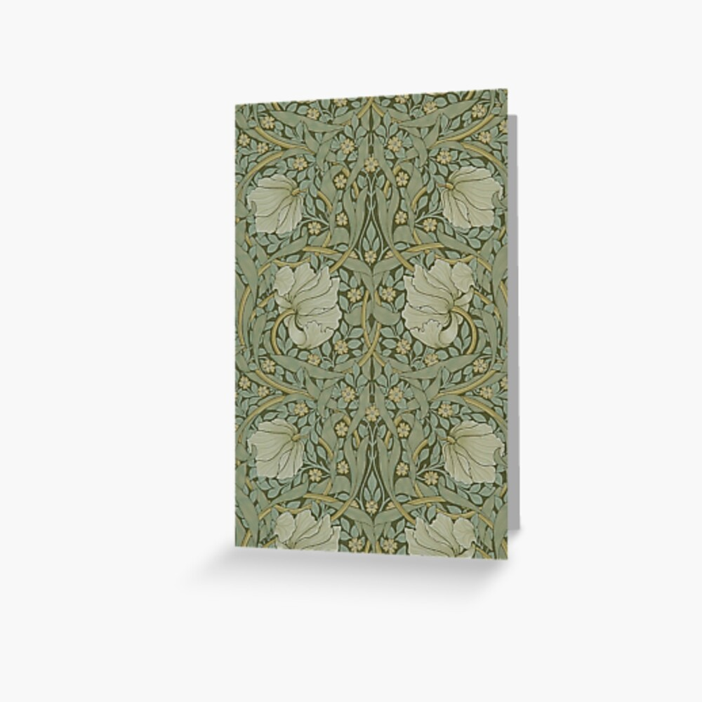 Pimpernel by William Morris, 1876 Greeting Card