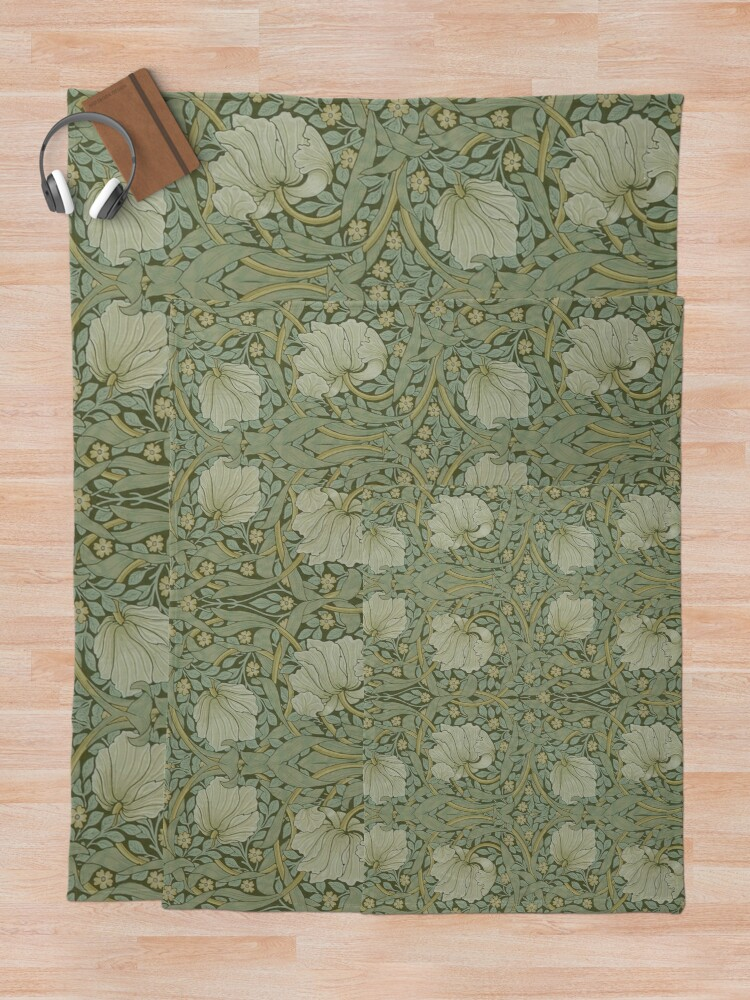 Alternate view of Pimpernel by William Morris, 1876 Throw Blanket