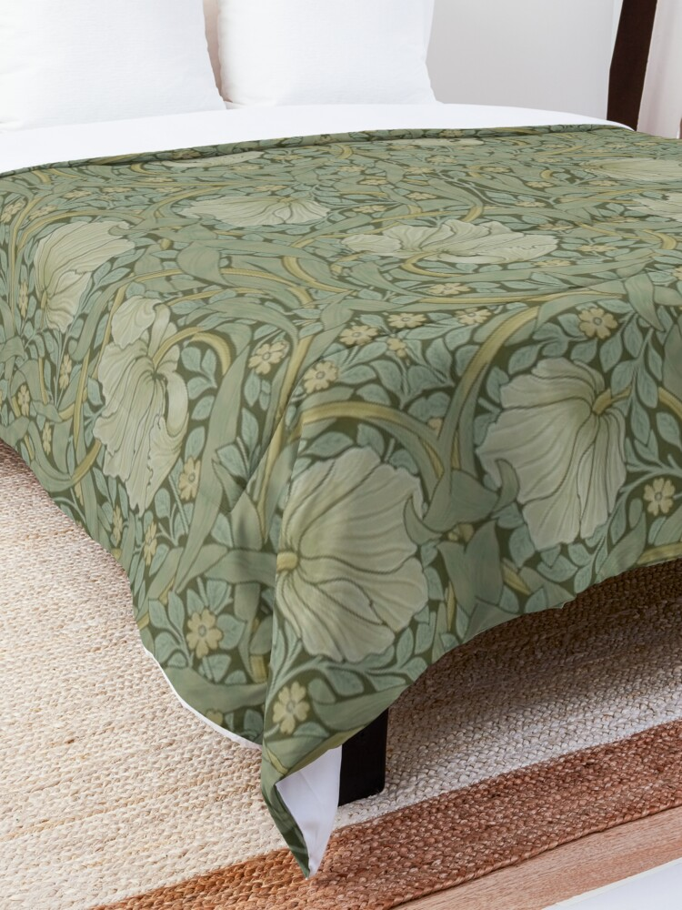 Alternate view of Pimpernel by William Morris, 1876 Comforter