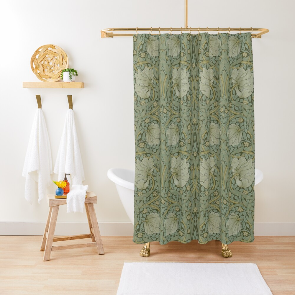Pimpernel by William Morris, 1876 Shower Curtain