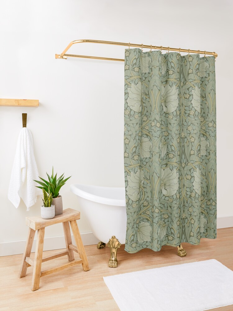 Alternate view of Pimpernel by William Morris, 1876 Shower Curtain