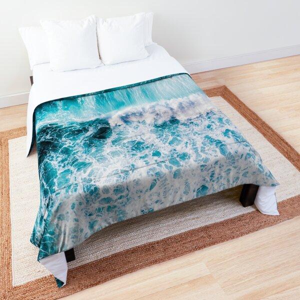 Blue Ocean Waves Comforter