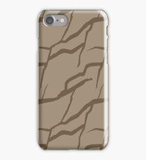 Earth color rock wall pattern iPhone Case/Skin