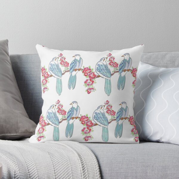 Birds on the branch Throw Pillow
