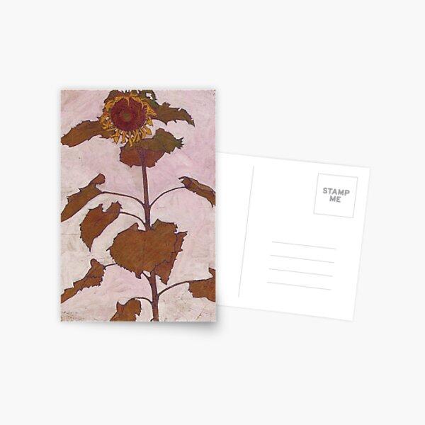 Egon Schiele - Sunflower 1909 Postcard