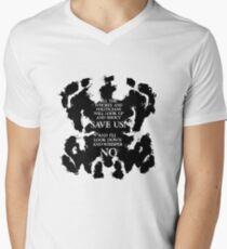 rorschach save us! Mens V-Neck T-Shirt