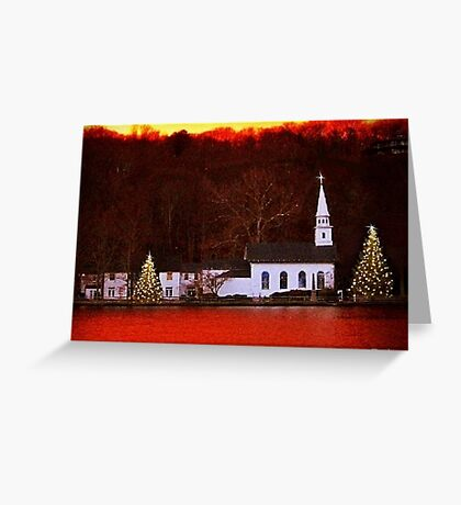Christmas in Cold Spring Harbor New York Greeting Card