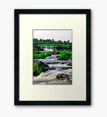 Bhatinda Water Fall Stairs, Dhanbad Framed Print