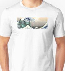 "Great Kaiju Off Kanagawa ""神奈川大怪獣裏"" mode Leatherback T-Shirt"