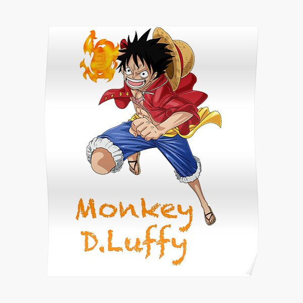 Illustration de One Piece Luffy, Monkey D.Luffy One Piece Poster