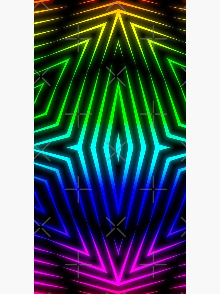 Candy's Abstract 80's Style Blacklight Art  by Gypsykiss