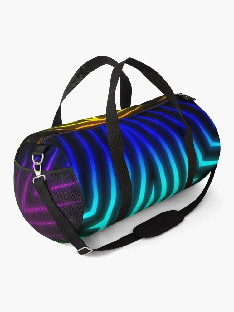 Alternate view of Candy's Abstract 80's Style Blacklight Art  Duffle Bag