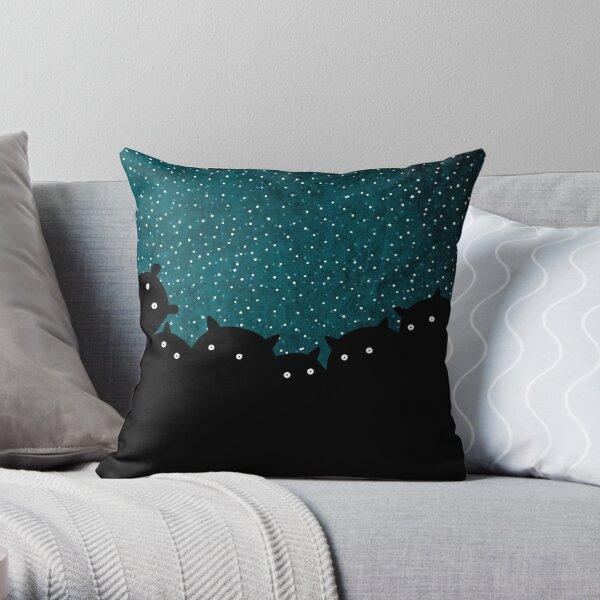 Good night squirrels Throw Pillow