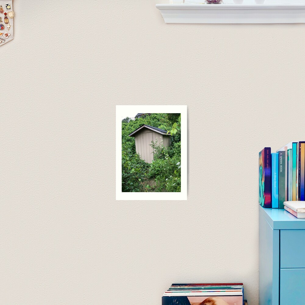 Bathroom decor, Restroom decor, Hut house  Art Print