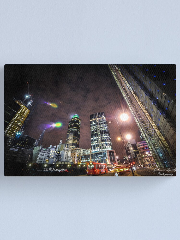 Alternate view of London in the lights Canvas Print