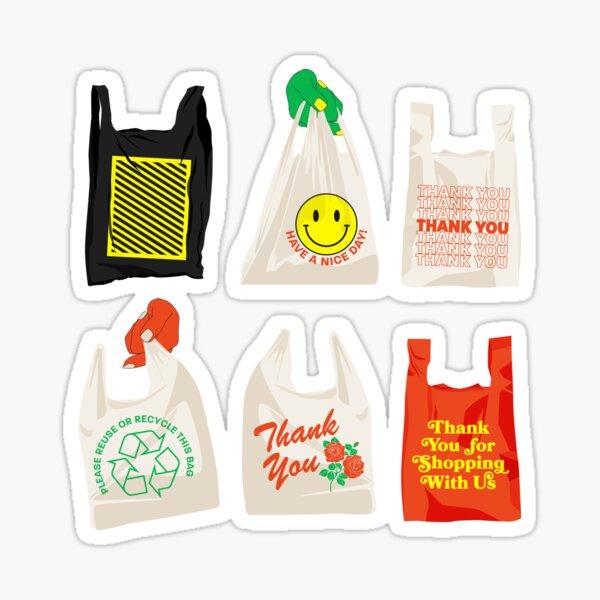 Takeout Bag Design Sticker