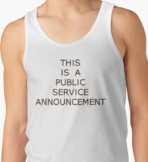 This is a Public Service Announcement (with Guitars) - T shirt Tank Top