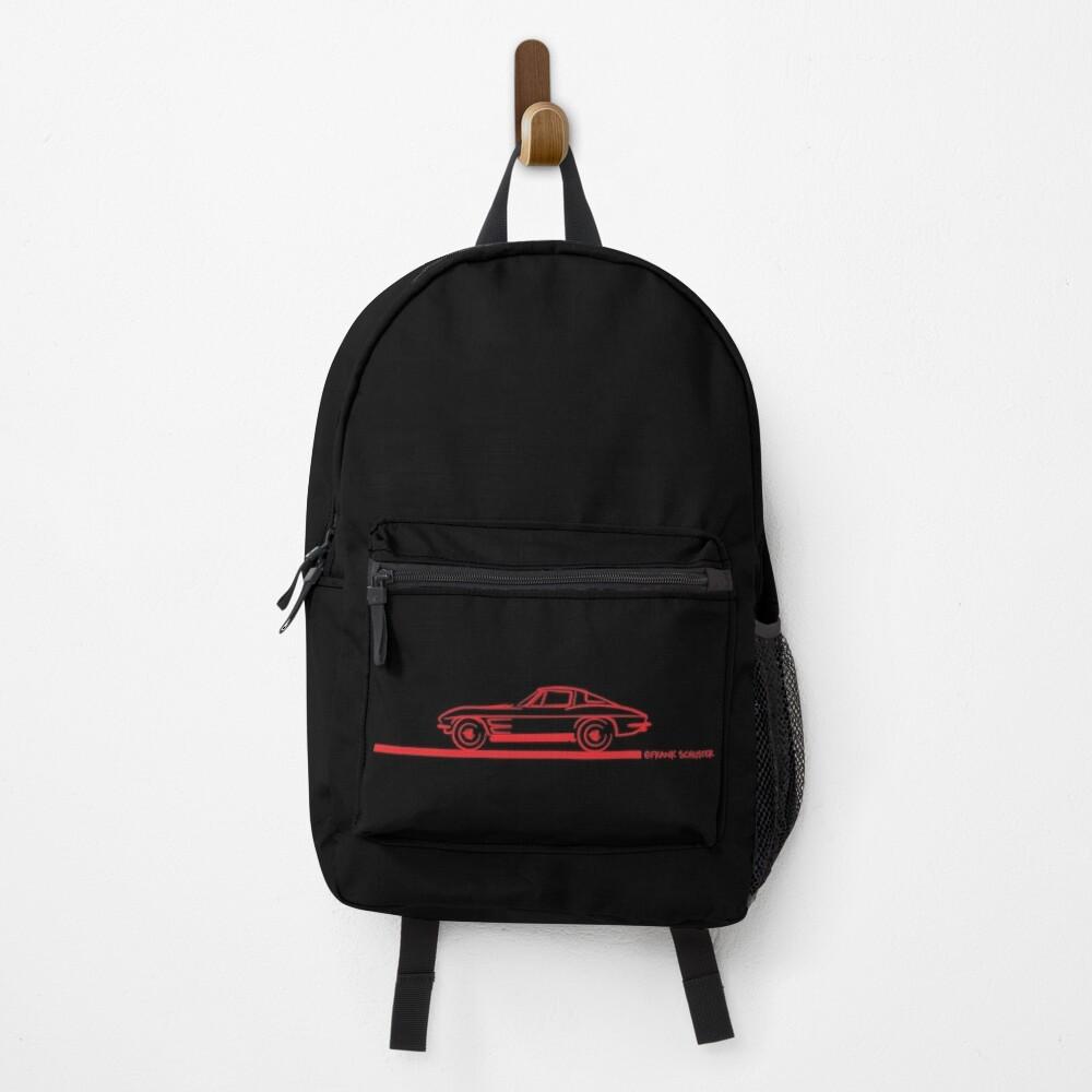 1963 Corvette Split Window Fastback Red Backpack