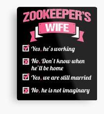 ZOOKEEPER'S WIFE Metal Print