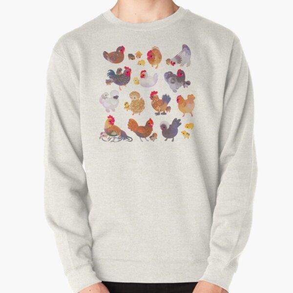 Chicken and Chick Pullover Sweatshirt