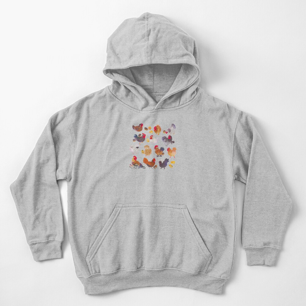 Chicken and Chick Kids Pullover Hoodie