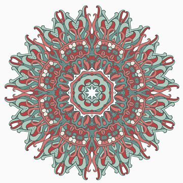 Patterned Mandala by Anutina