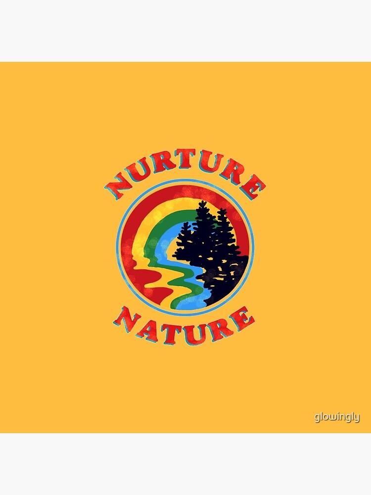 nurture nature vintage environmentalist design by glowingly