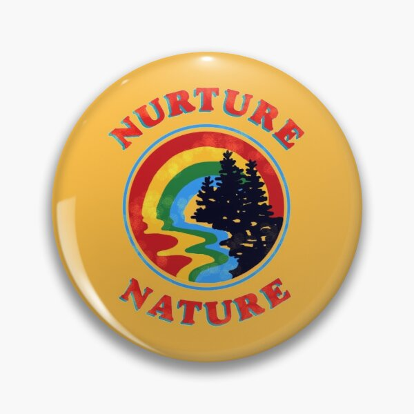 nurture nature vintage environmentalist design Pin