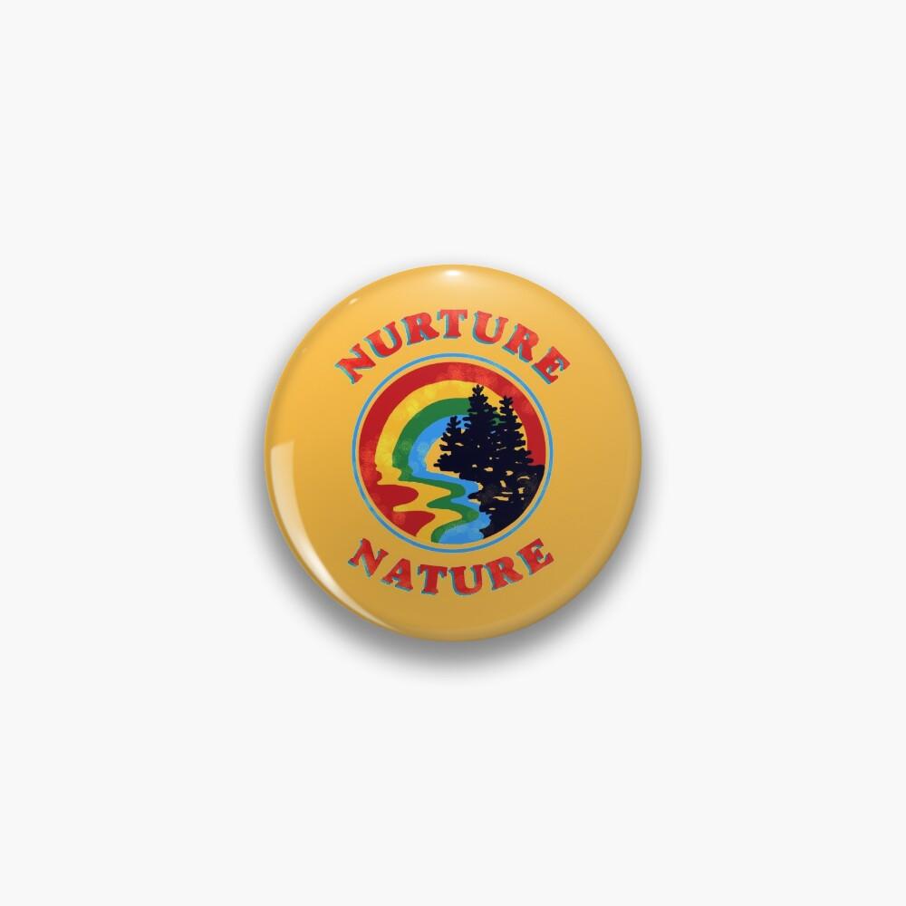 nurture nature vintage environmentalist design Pin