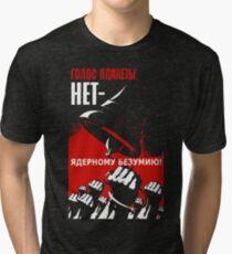 Soviet Propaganda Political T-shirt Tri-blend T-Shirt