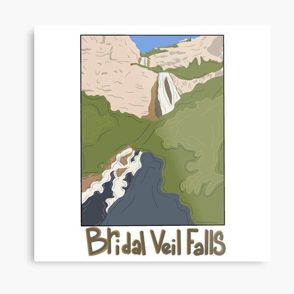 Bridal Veil Falls Utah Metal Print