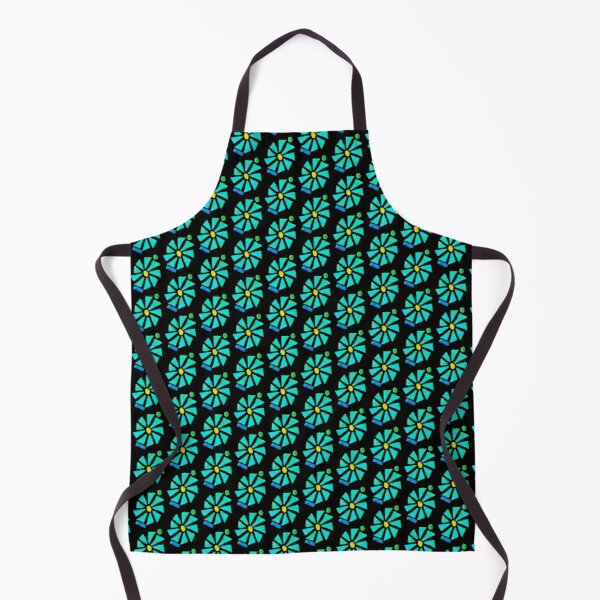 Glass Turquoise Bloom Apron