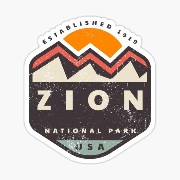 Zion National Park Mountain Sticker
