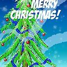 Christmas Tree in Snow by Steve Hammond