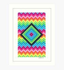 CUBES DESIGN PAPER Art Print