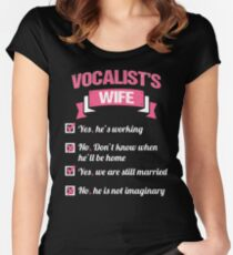 VOCALIST'S WIFE Women's Fitted Scoop T-Shirt