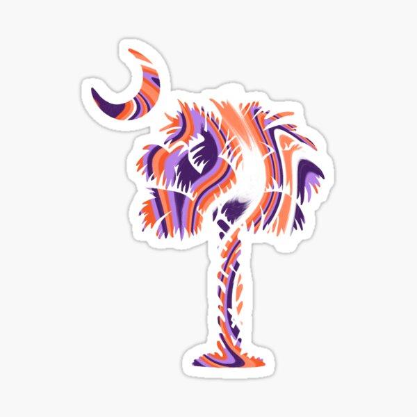 Palmetto Moon - Orange and Purple Marble Sticker