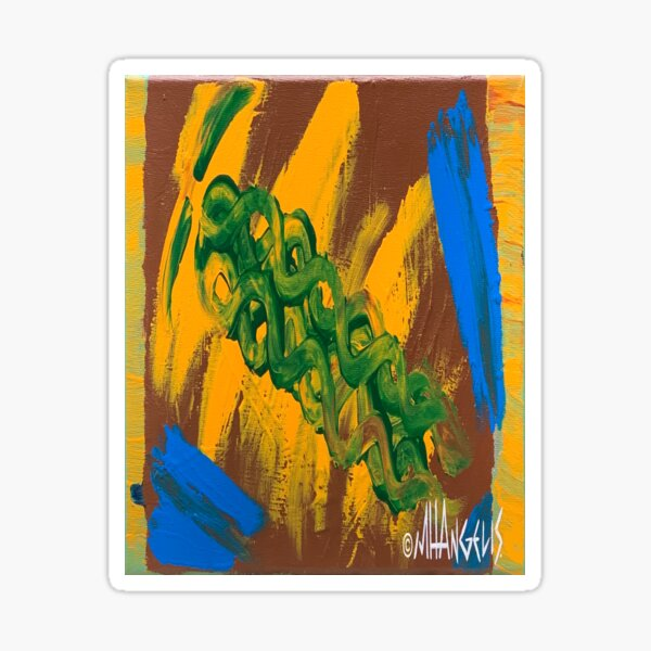 Unity Embrace Entwine Souls Earth Air Water Nature Plant Tree Green Yellow Brown Blue   Sticker
