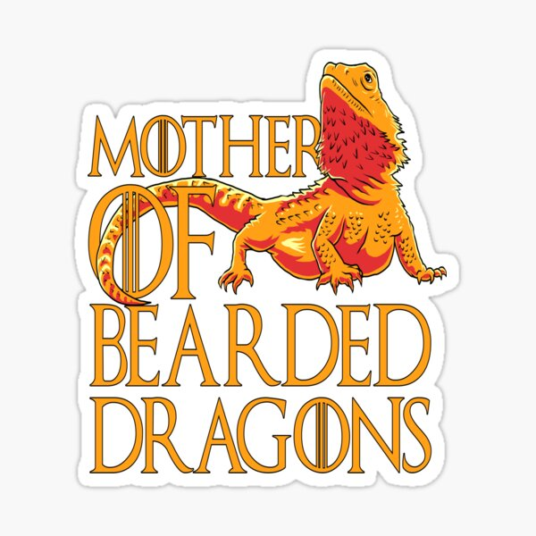 Woman Mother of Bearded Dragons women reptile mom Sticker