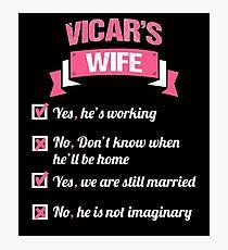 VICAR'S WIFE Photographic Print