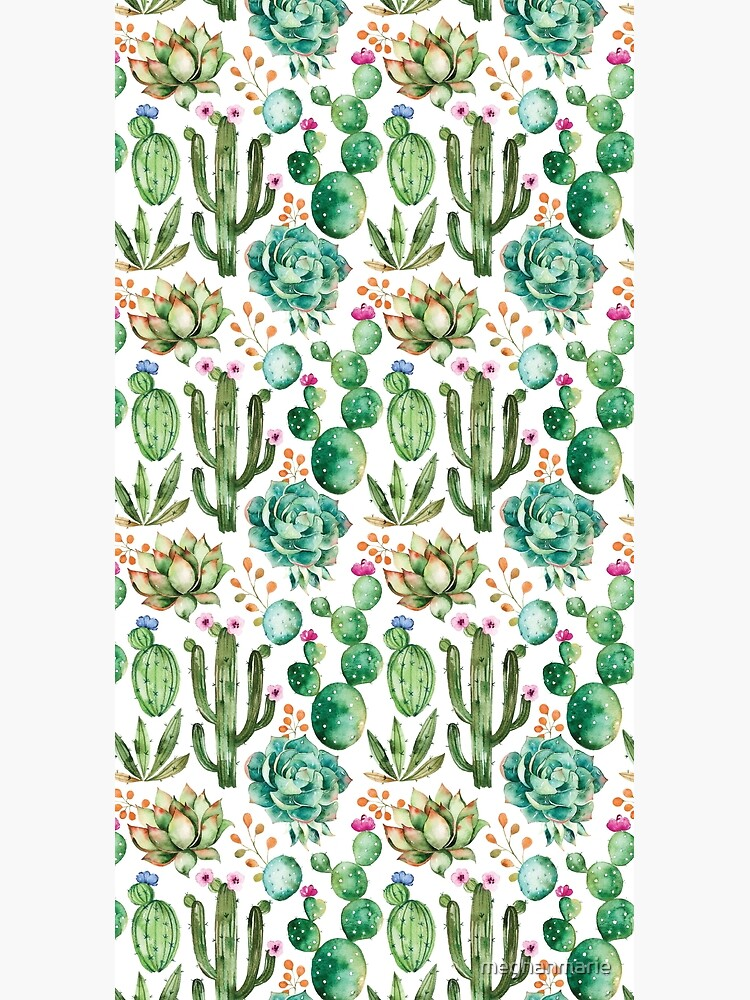 Watercolor Cactus Pattern by meghanmarie