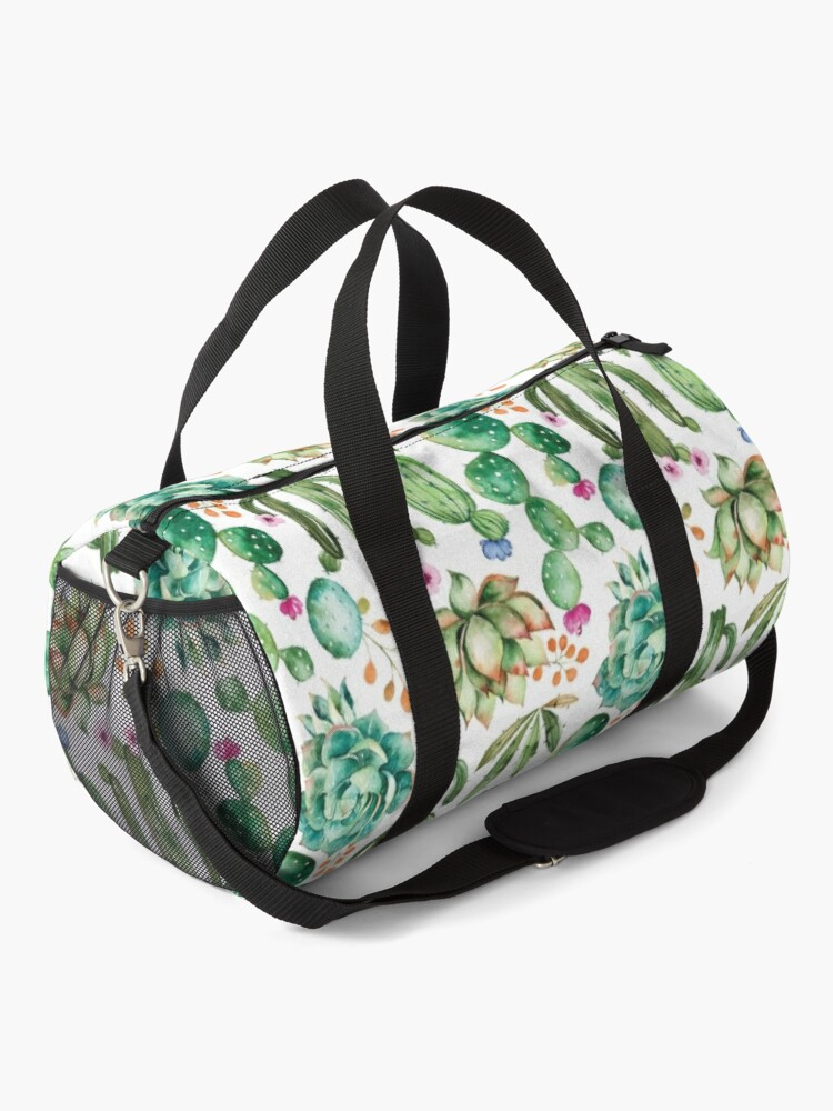 Alternate view of Watercolor Cactus Pattern Duffle Bag