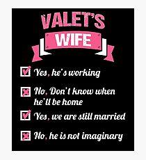 VALET'S WIFE Photographic Print