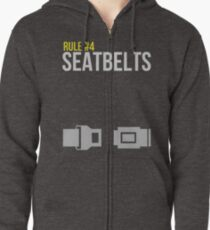 Zombie Survival Guide - Rule #4: Seatbelts Zipped Hoodie