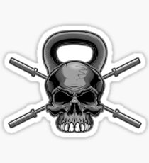 Kettlebell Crossed Barbells Sticker