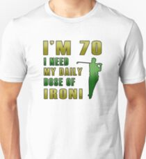 70th Birthday For Golf Lovers Unisex T-Shirt