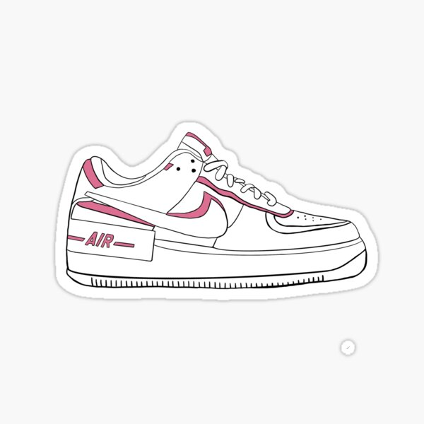 pink and white shoe Sticker