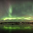 Panorama of Aurora Borealis by Frank Olsen