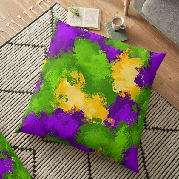 Mardi Gras Splash Floor Pillow